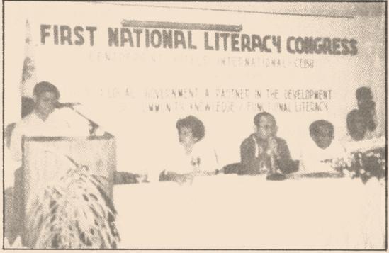 1ST NATIONAL LITERACY CONGRESS 1995